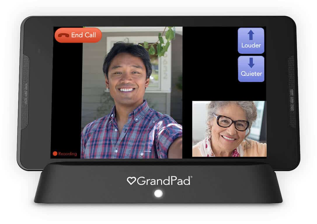 GrandPad video call with family
