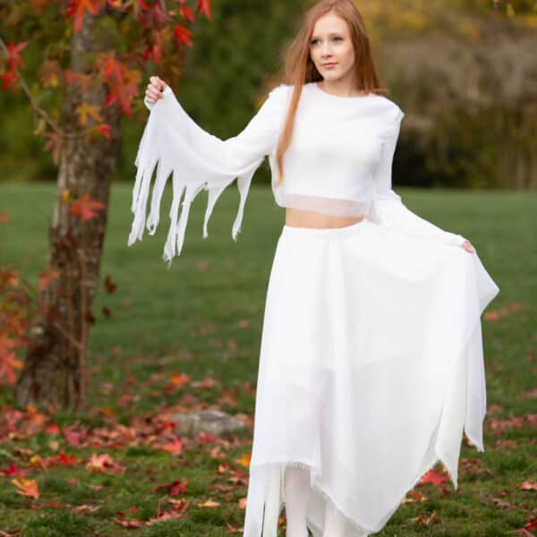 How To Make A Handkerchief Skirt – Ghost Costume Tutorial Part 2