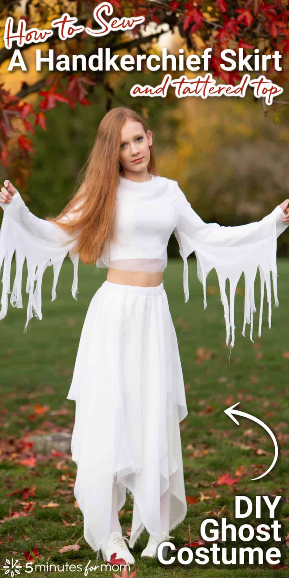 How To Make A Handkerchief Skirt And Top – Ghost Costume Tutorial