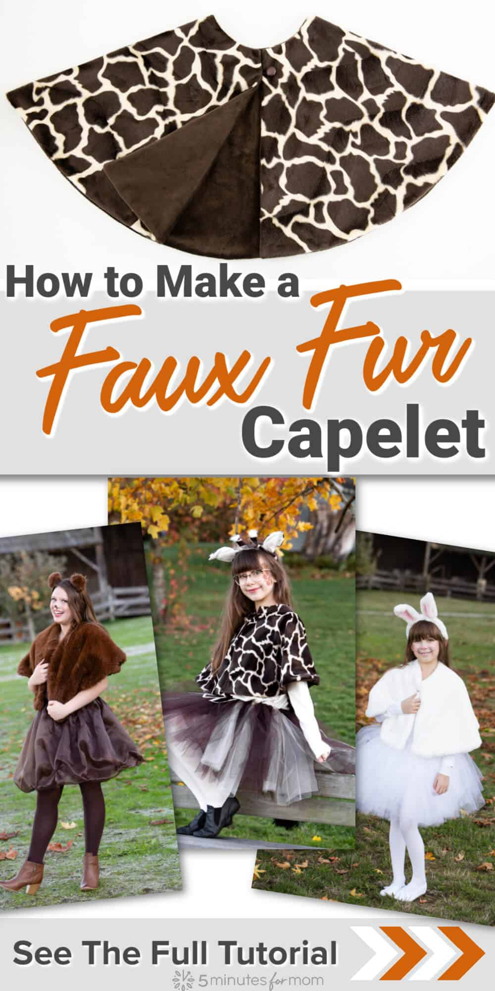 How to Make a Faux Fur Capelet