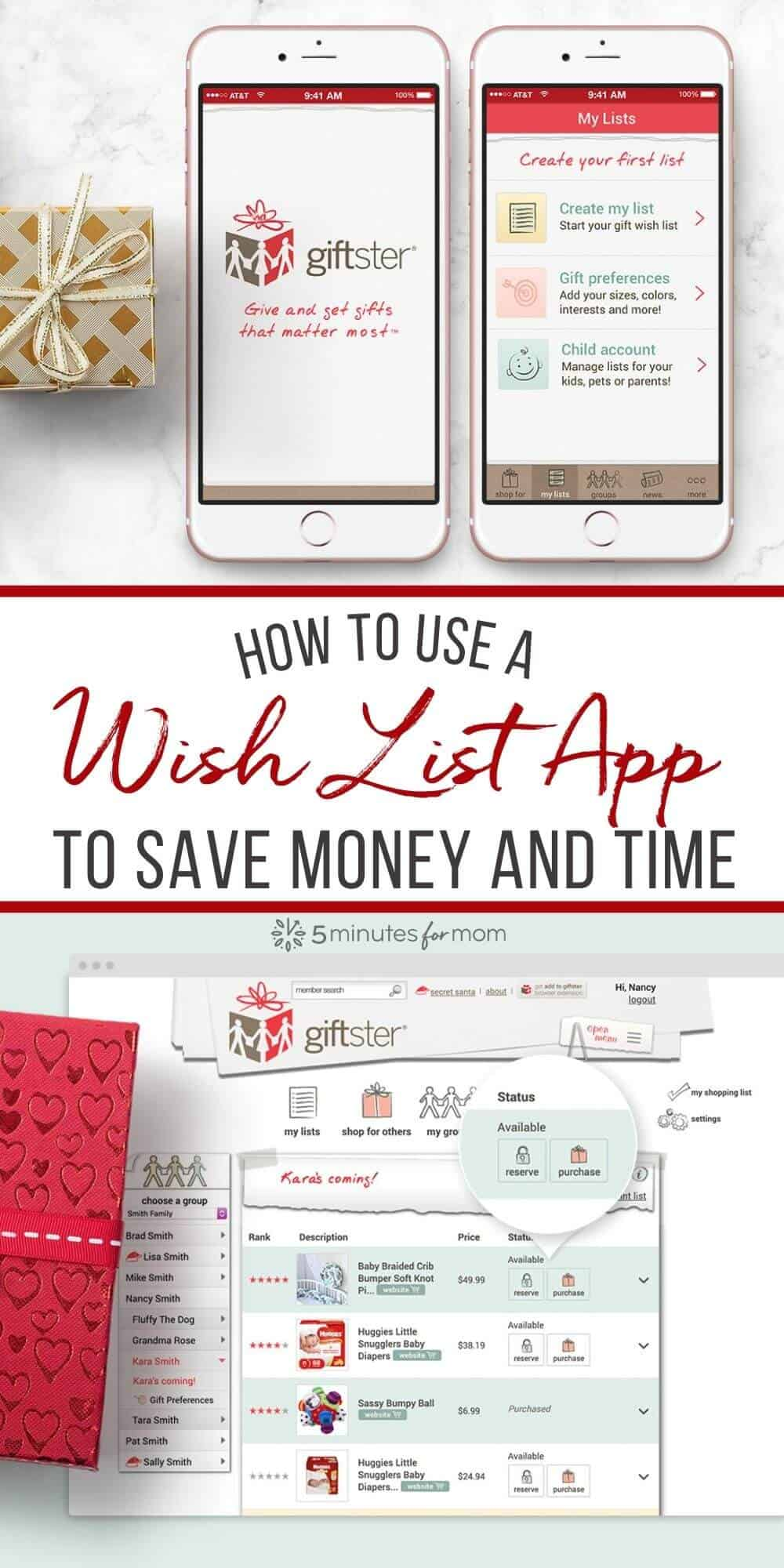 How to Use a Wish List App to Save Money and Time