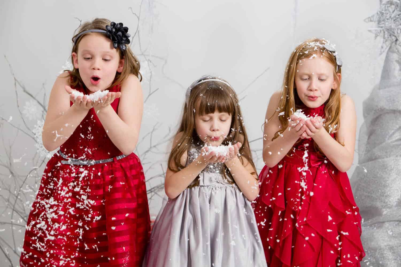 Olivia Sophia and Julia making wishes