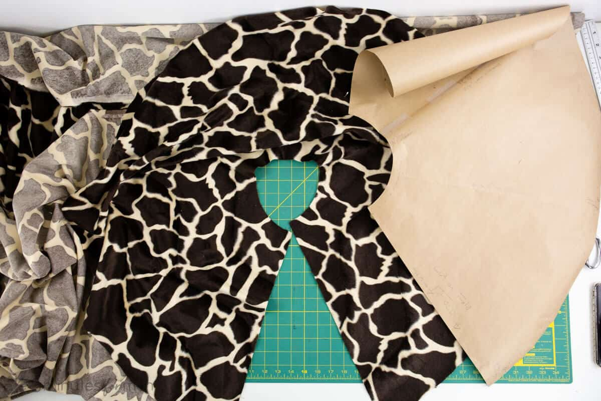 how to sew a faux fur capelet or wrap tutorial
