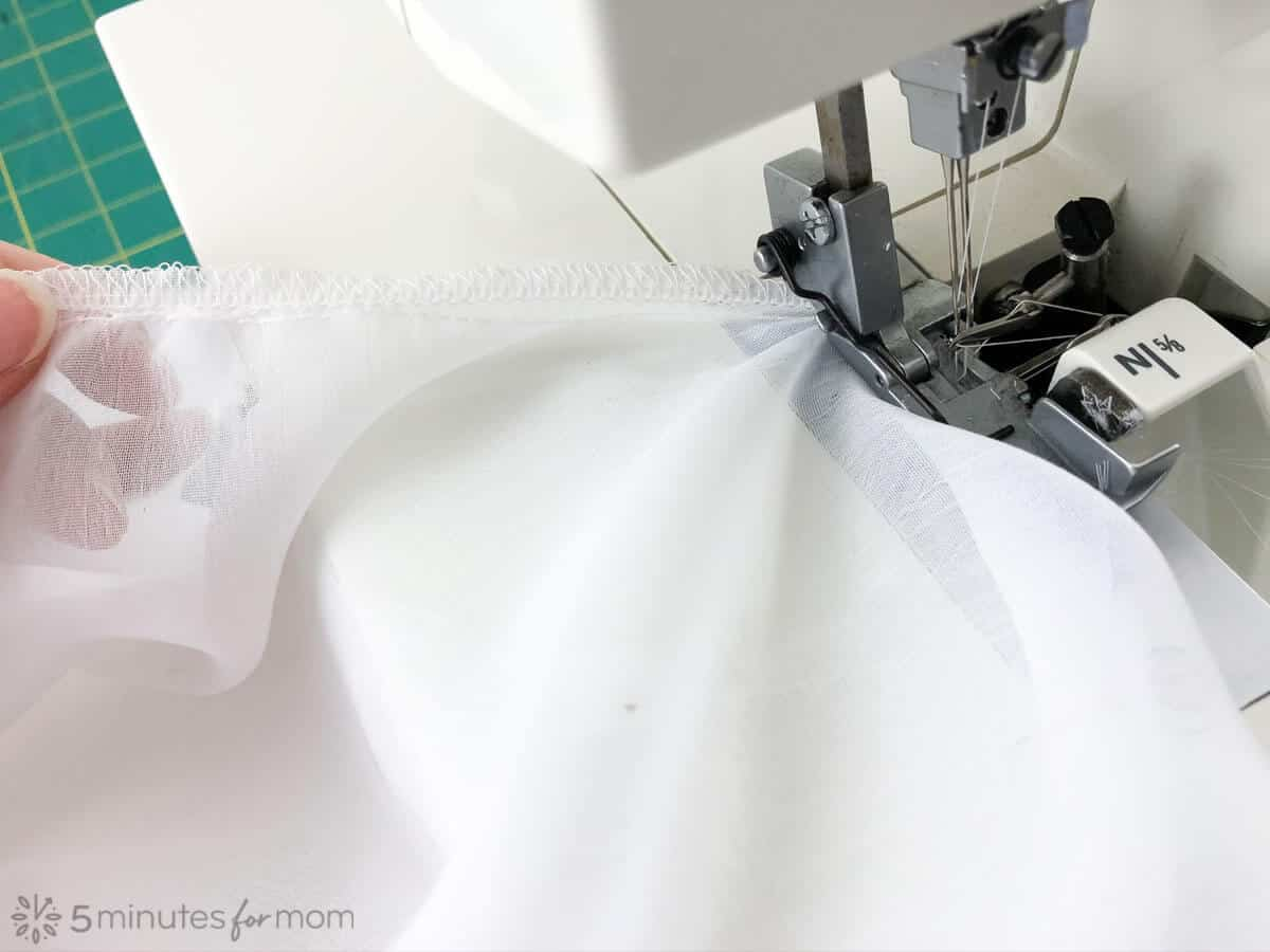 sewing a handkerchief skirt tutorial