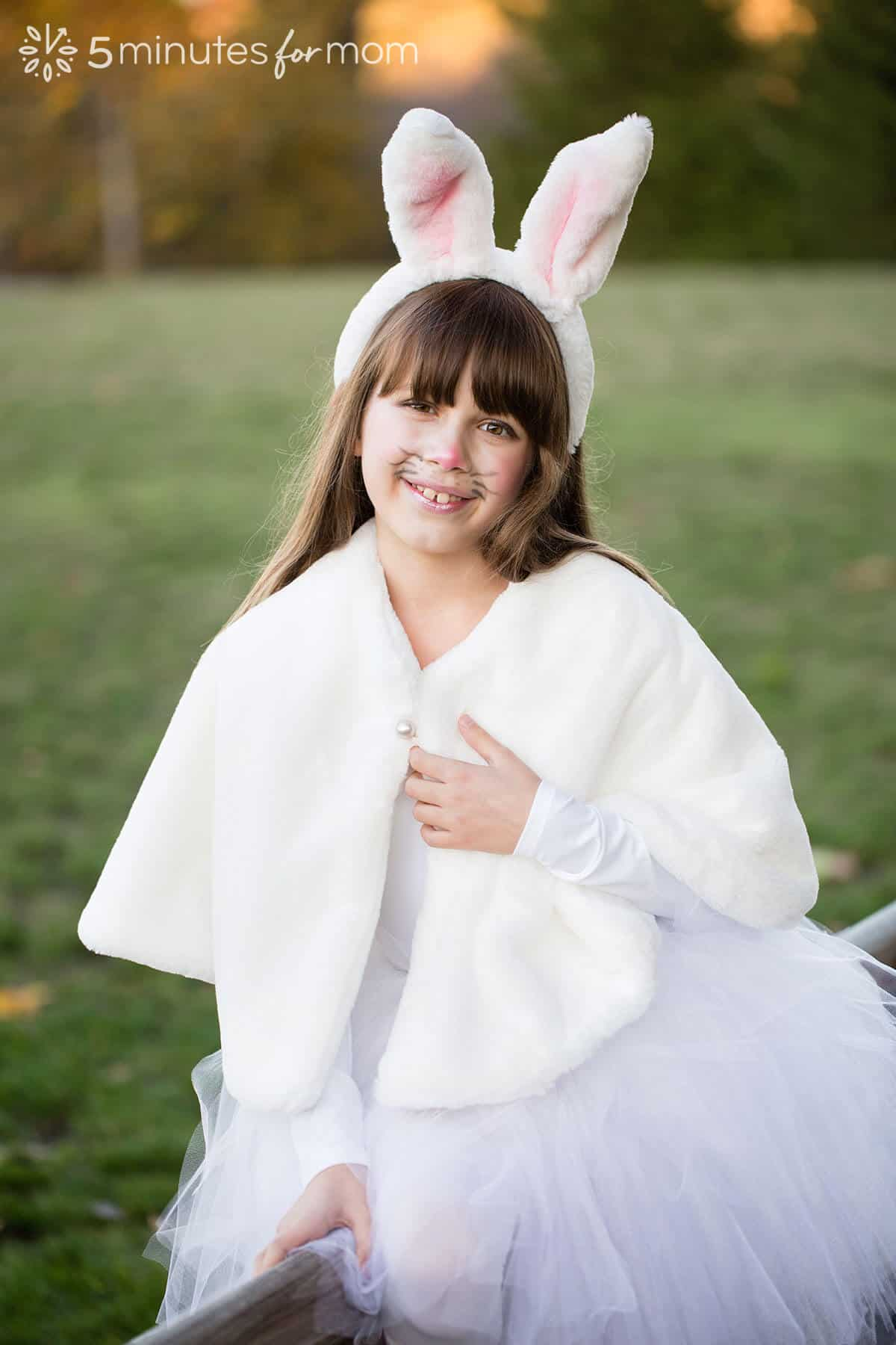 Plush capelet for bunny costume