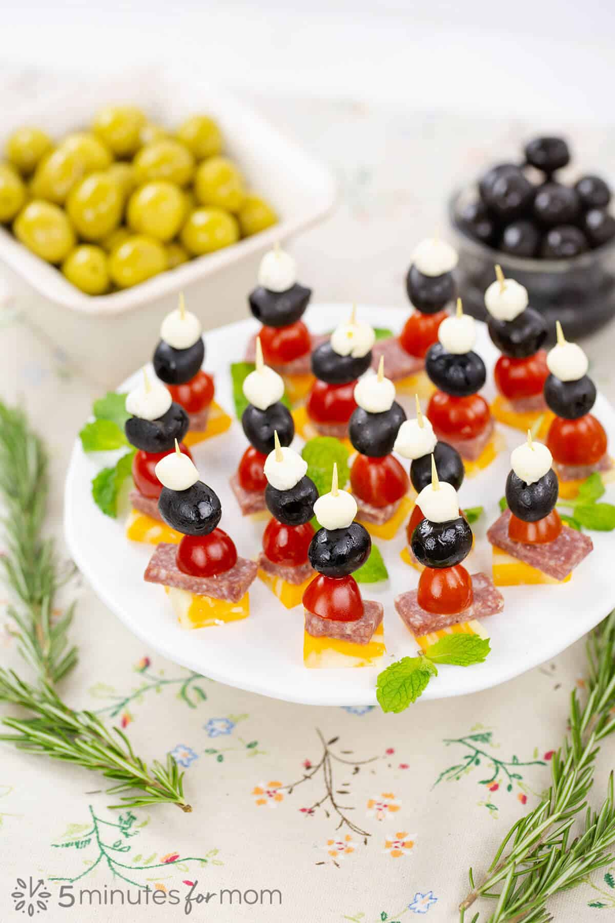 Olive Skewers - Easy Appetizer
