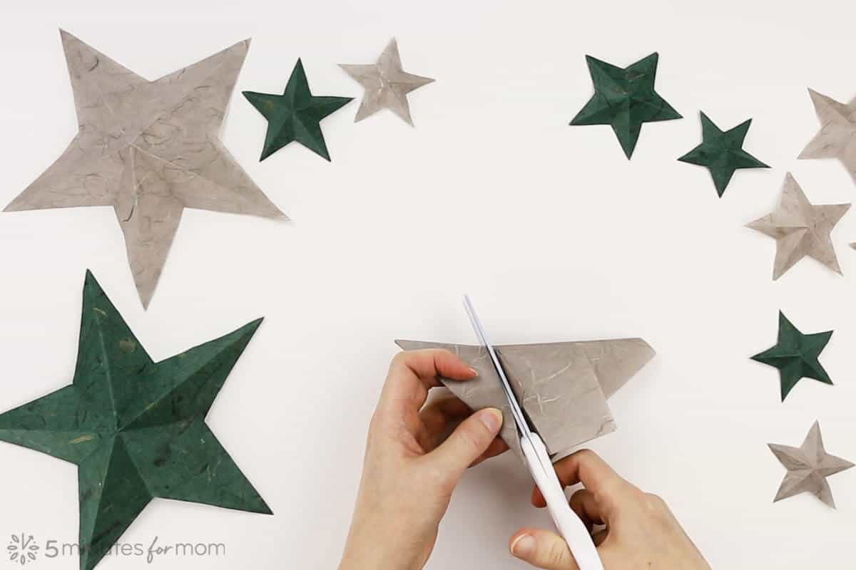 how to fold a one cut paper star instructions