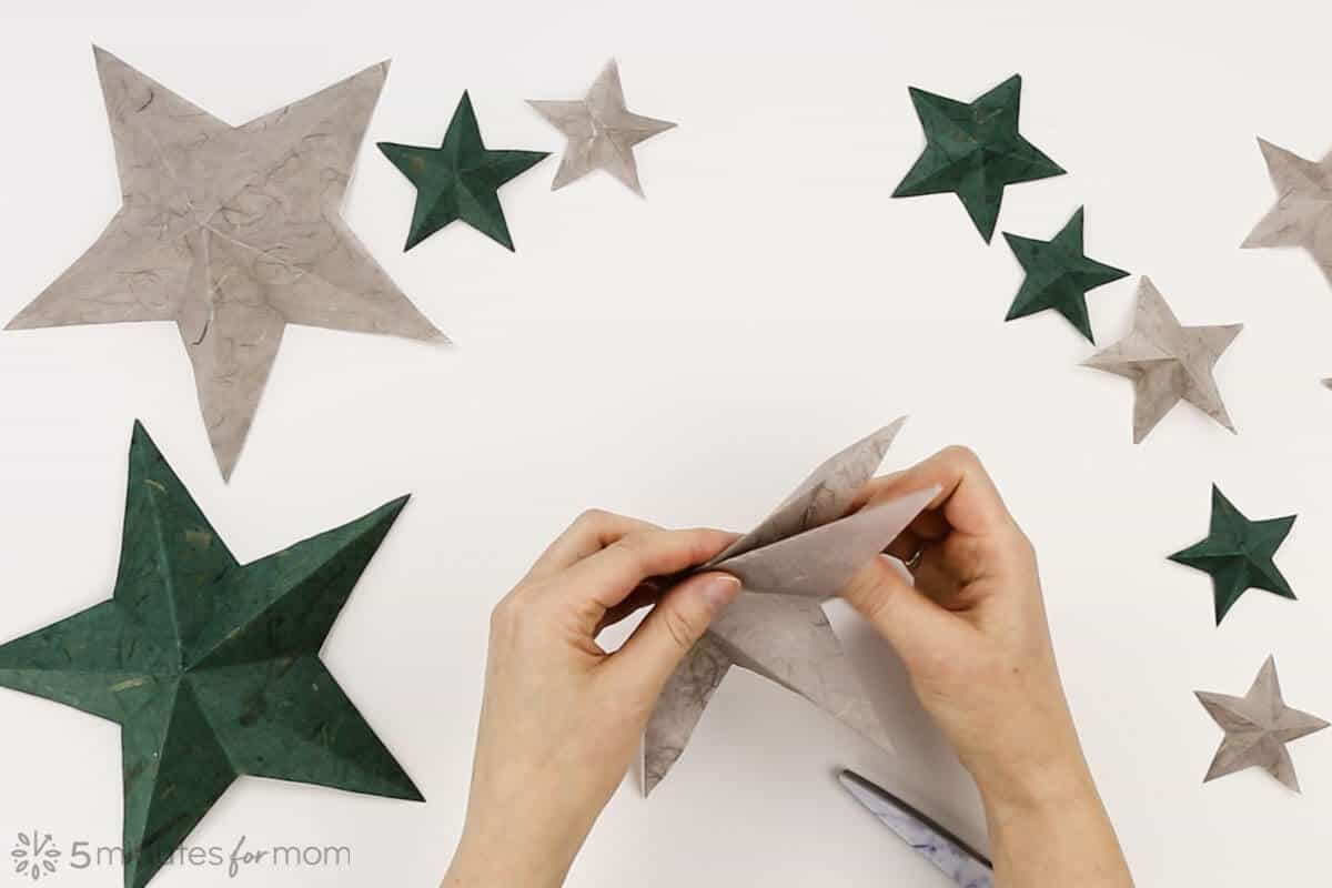 how to make a paper star - instructions
