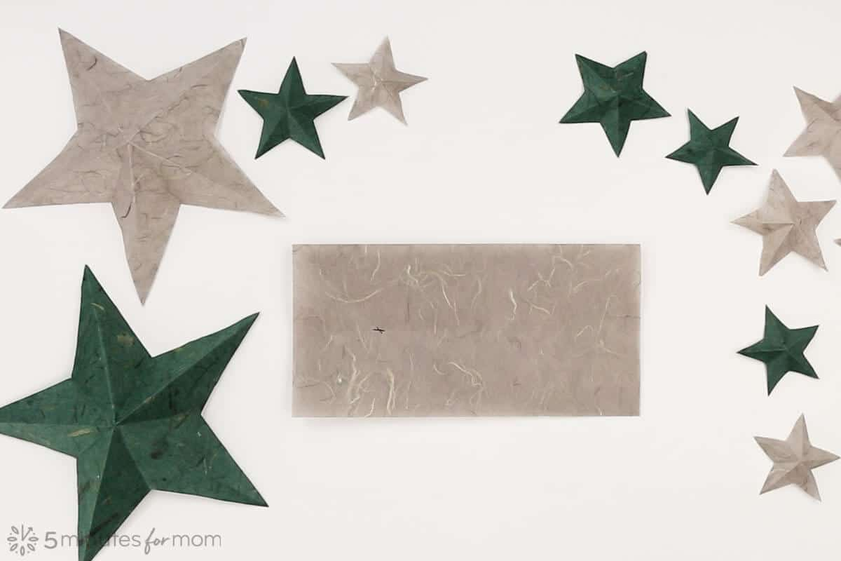 How to make paper stars step by step tutorial