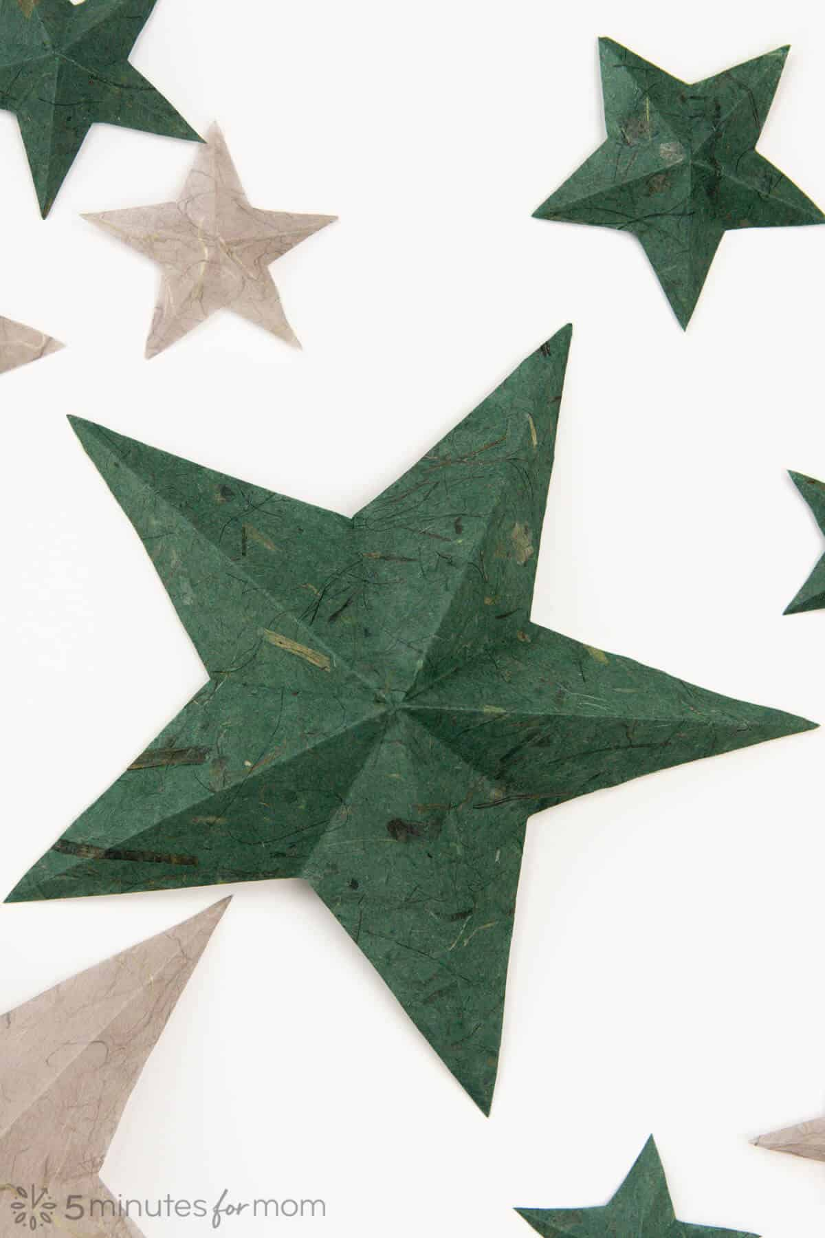 how to make five point paper stars