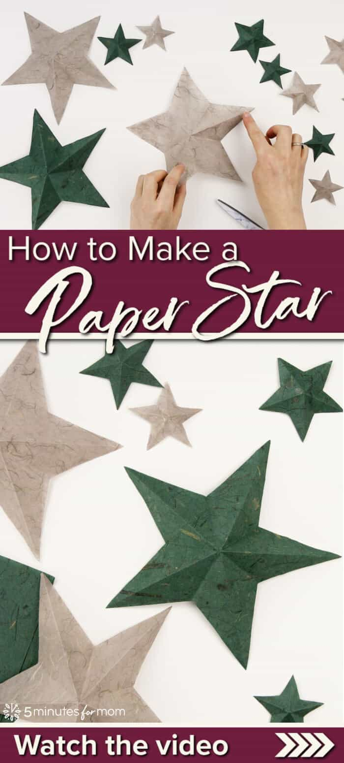 How to Make a Paper Star - Video Tutorial