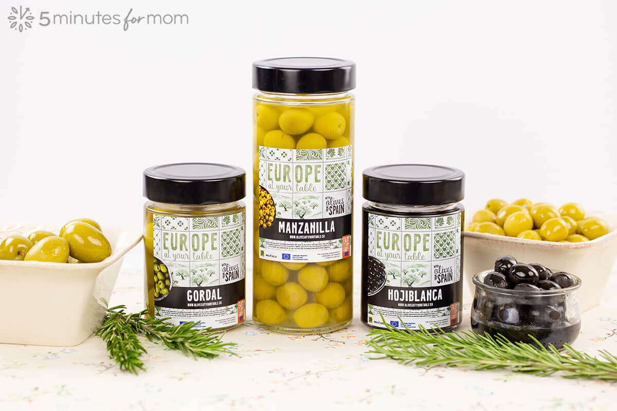European Olives - Table olives in jars and serving dishes