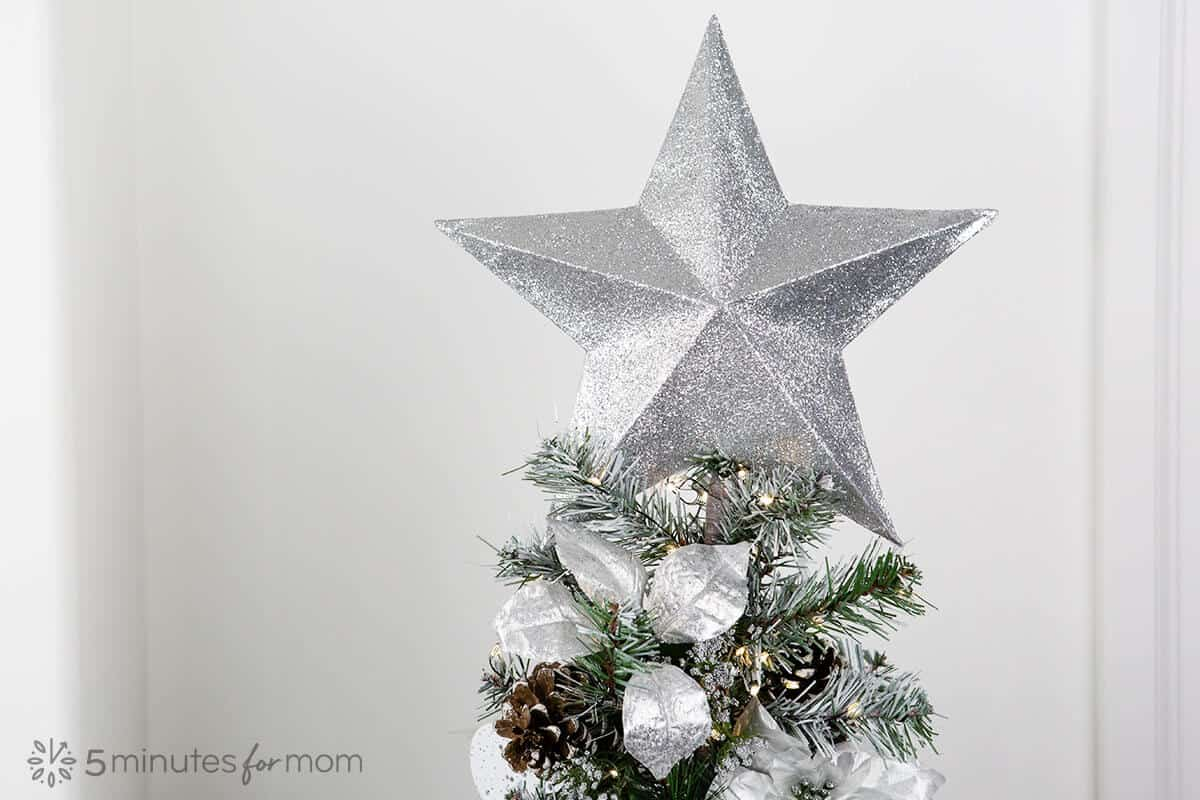 How to make a 3D paper star Christmas tree topper