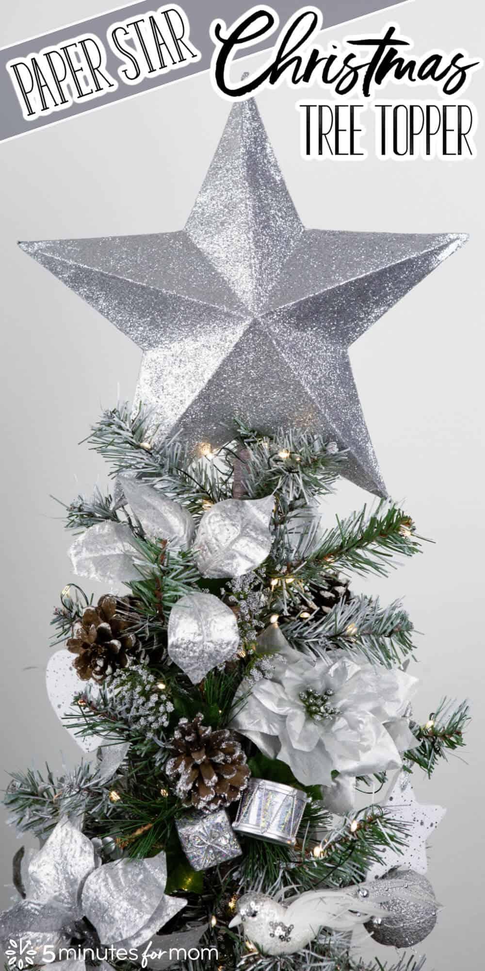 DIY Paper Start Christmas Tree Topper