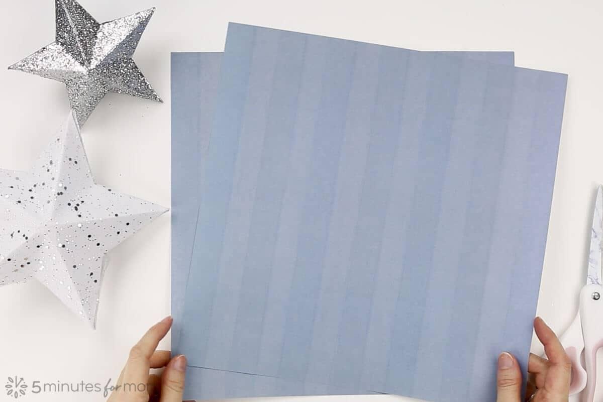 Paper Star Christmas Tree Topper Tutorial