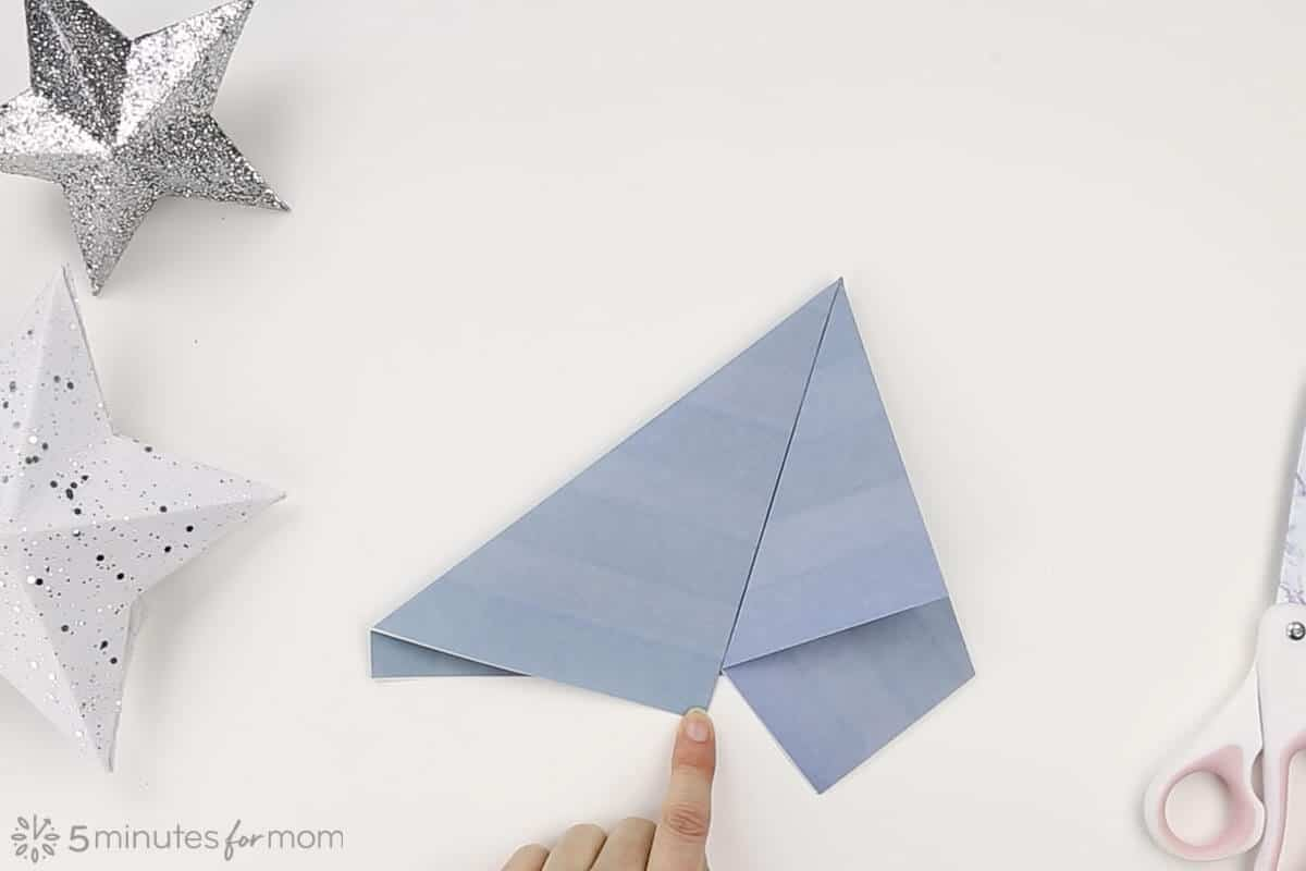 How to make a 3D paper star instructions