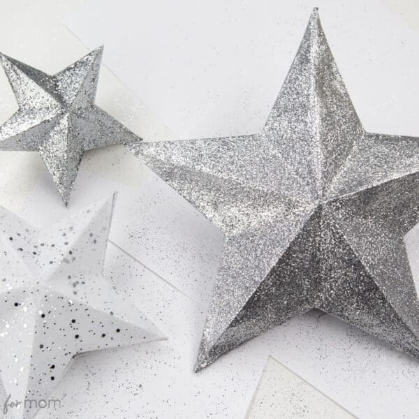 3D Paper Star Christmas Tree Topper