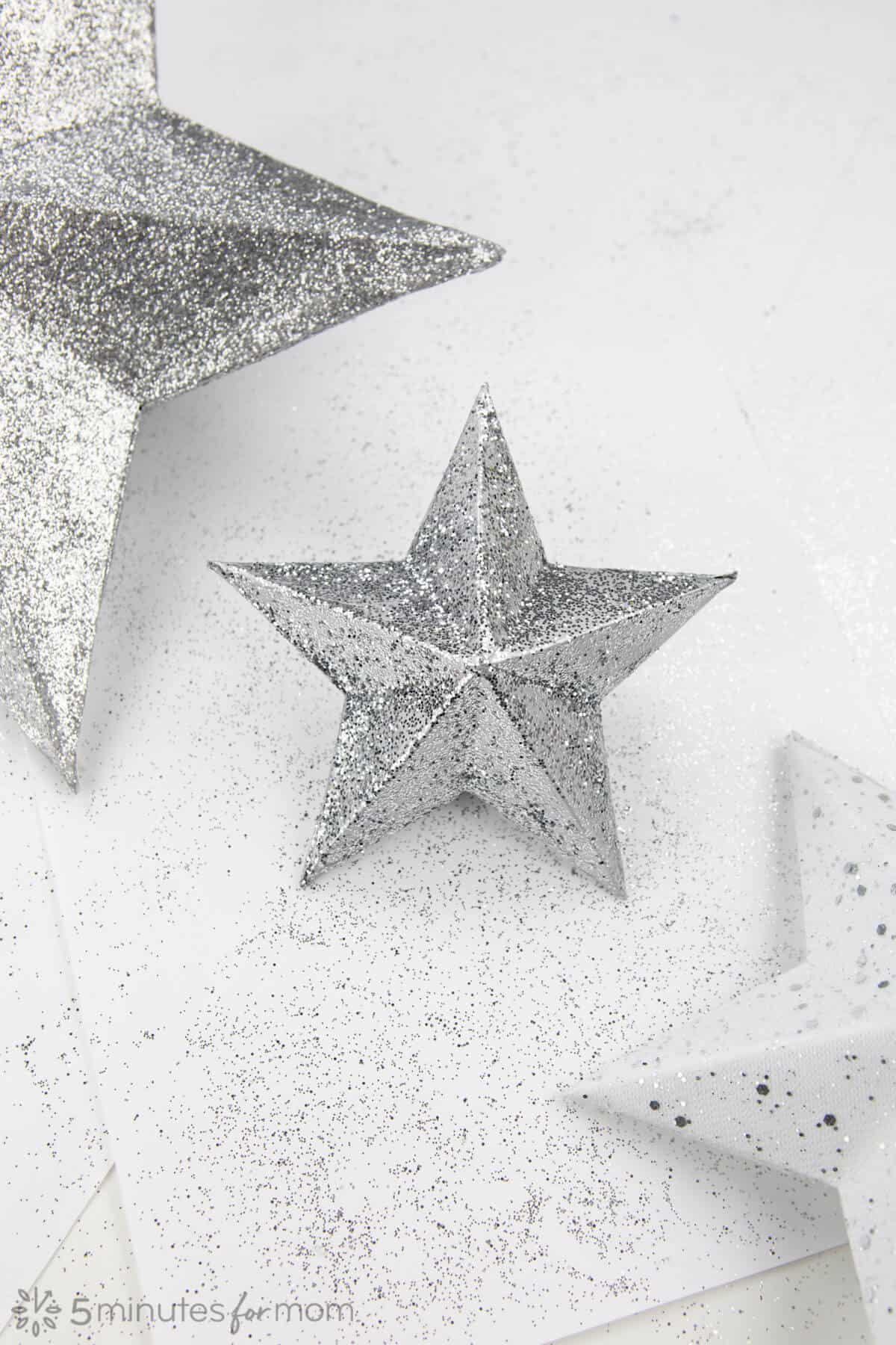 3D Paper Star Step by Step Instructions