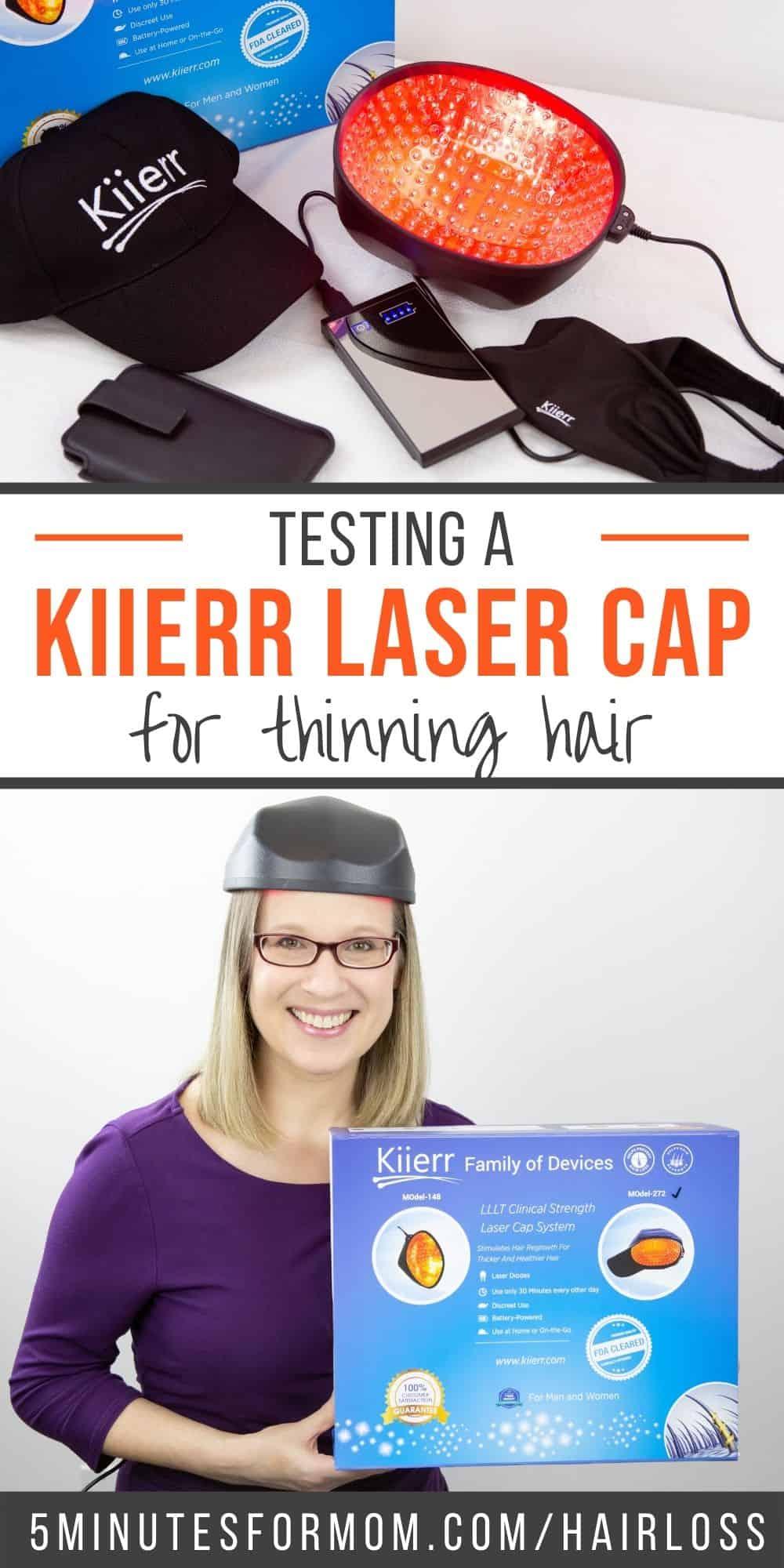 Testing a Kiierr Laser Cap for Thinning Hair