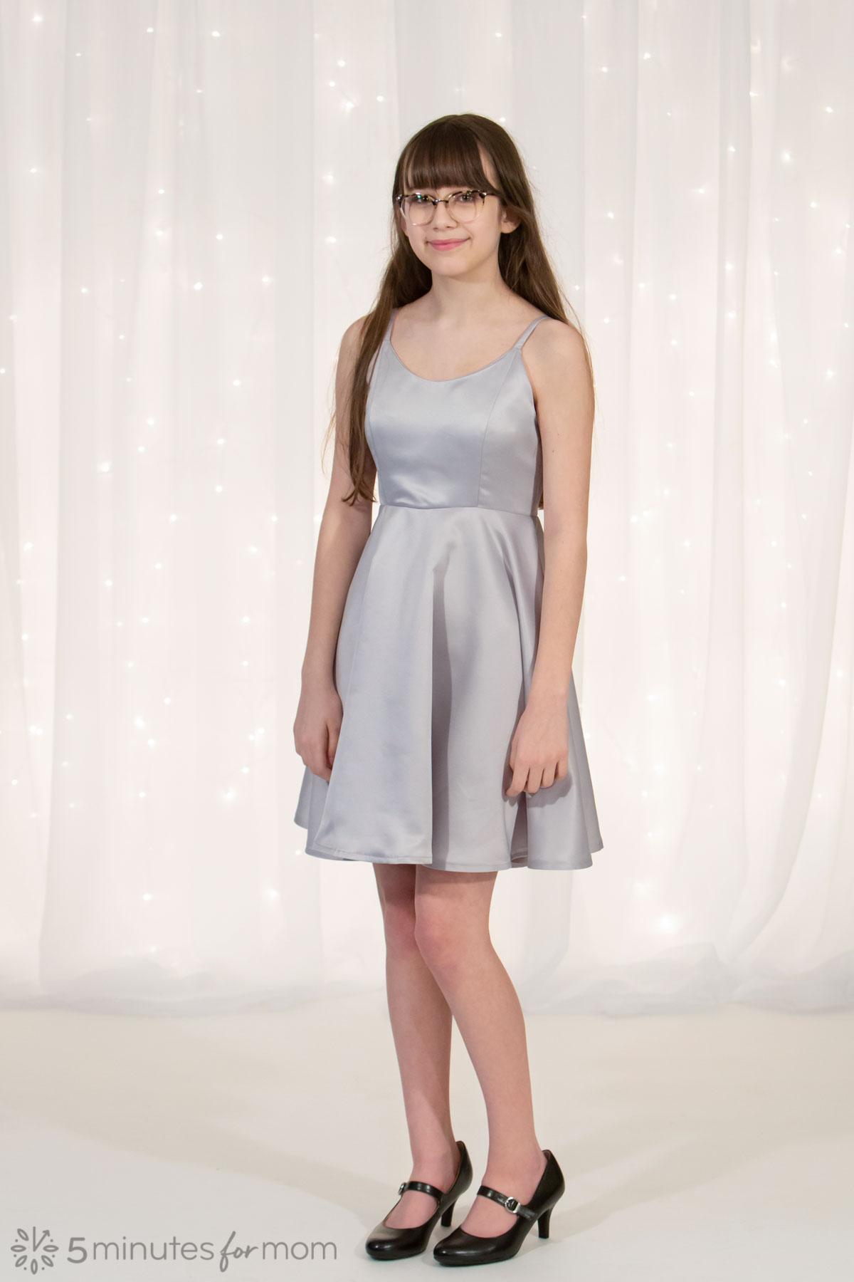 Matte Satin Silver Dress