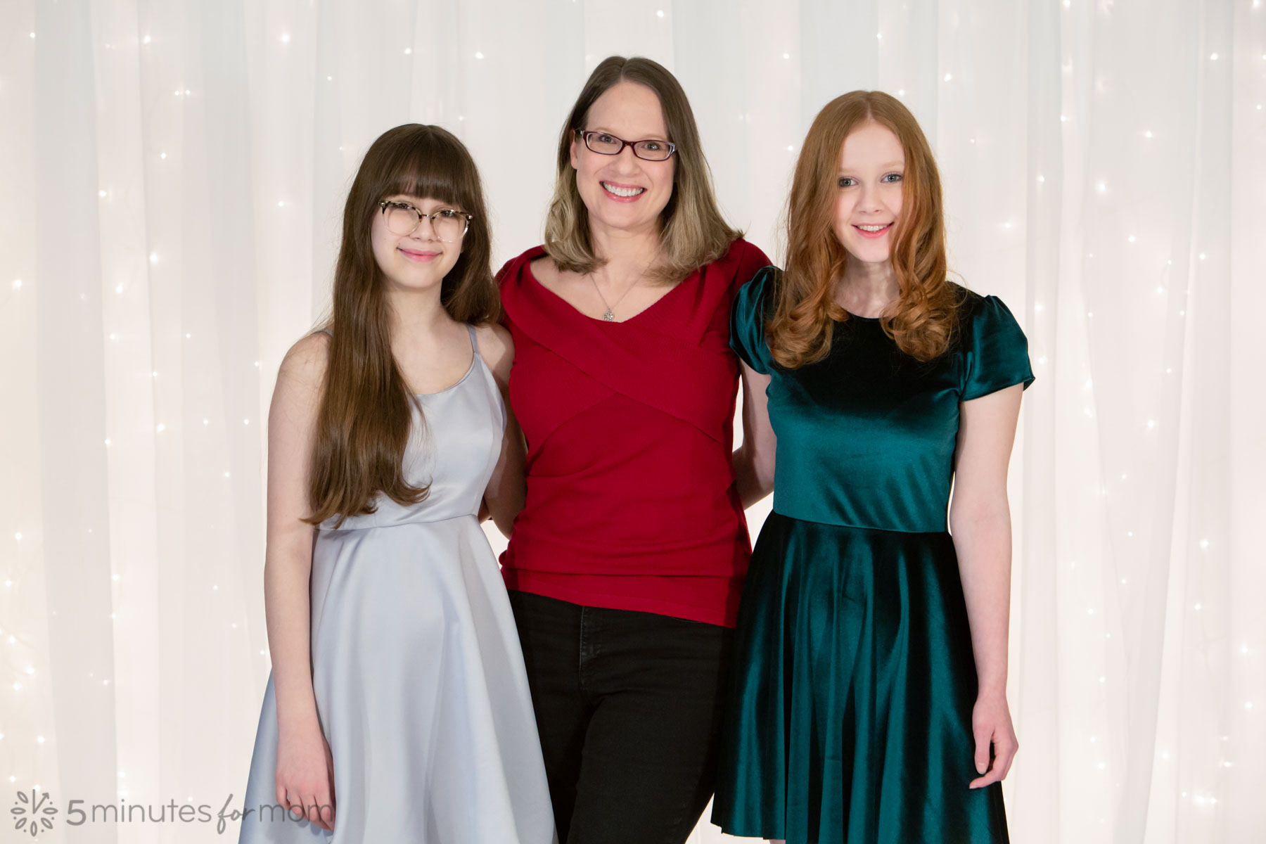 Susan with her daughters
