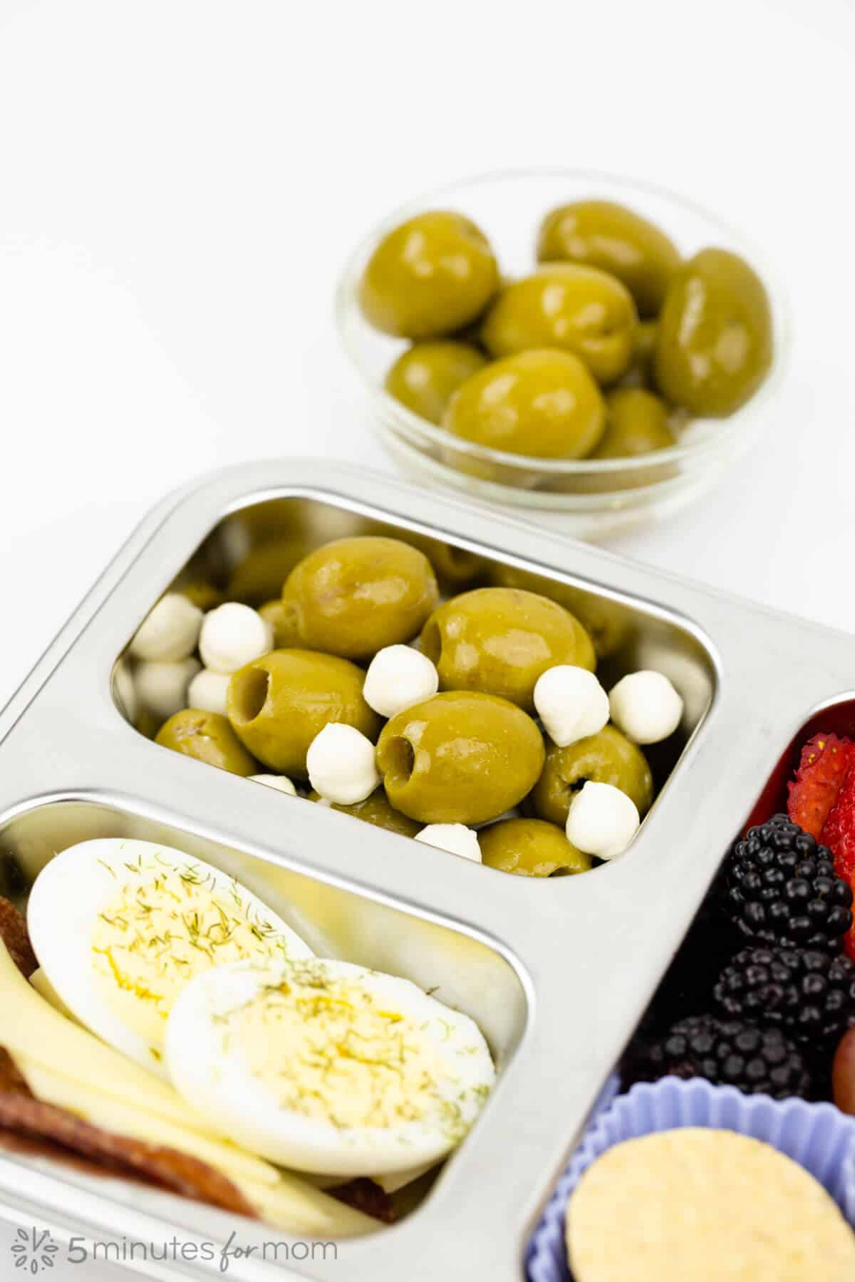 Bento Box with table olives