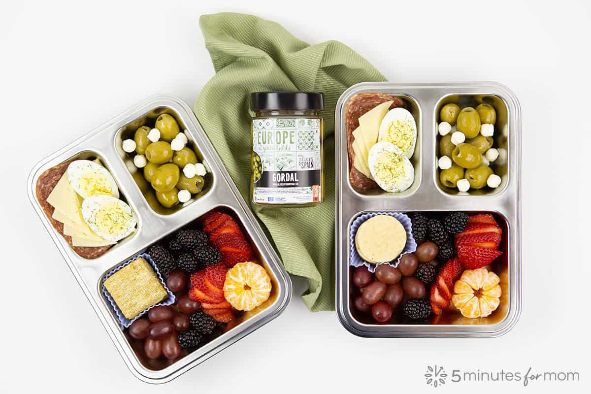 Breakfast Bento Box with Olives