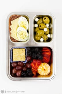 Breakfast Bento with protein and healthy fats
