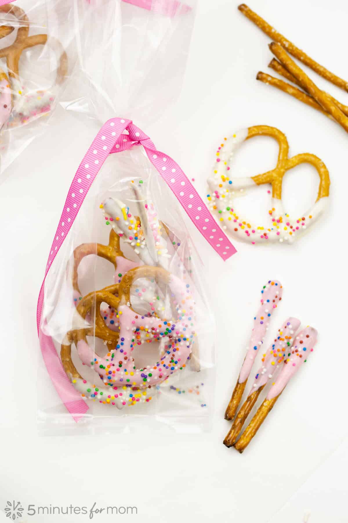 valentine chocolate covered pretzels
