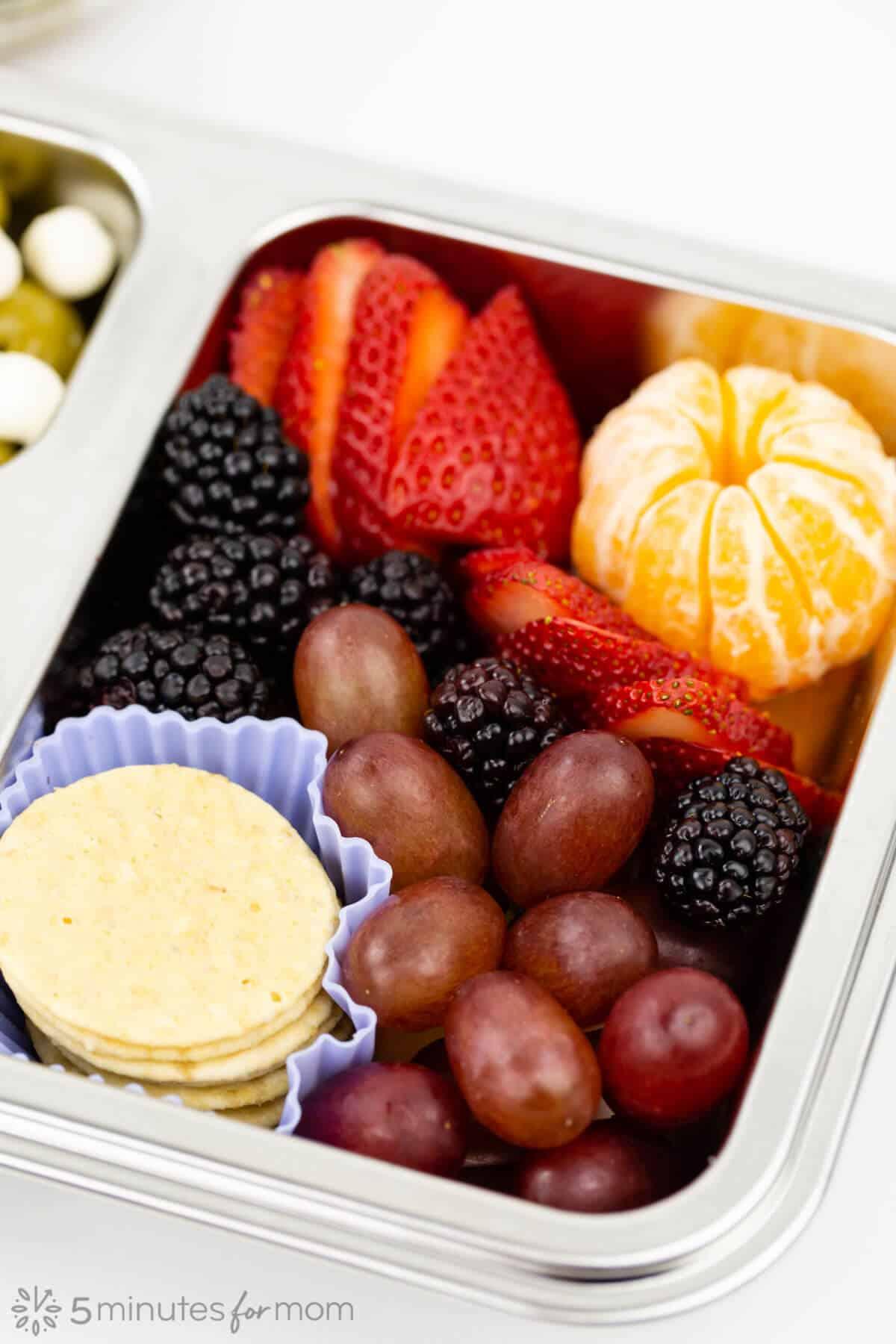 bento box with fresh fruit