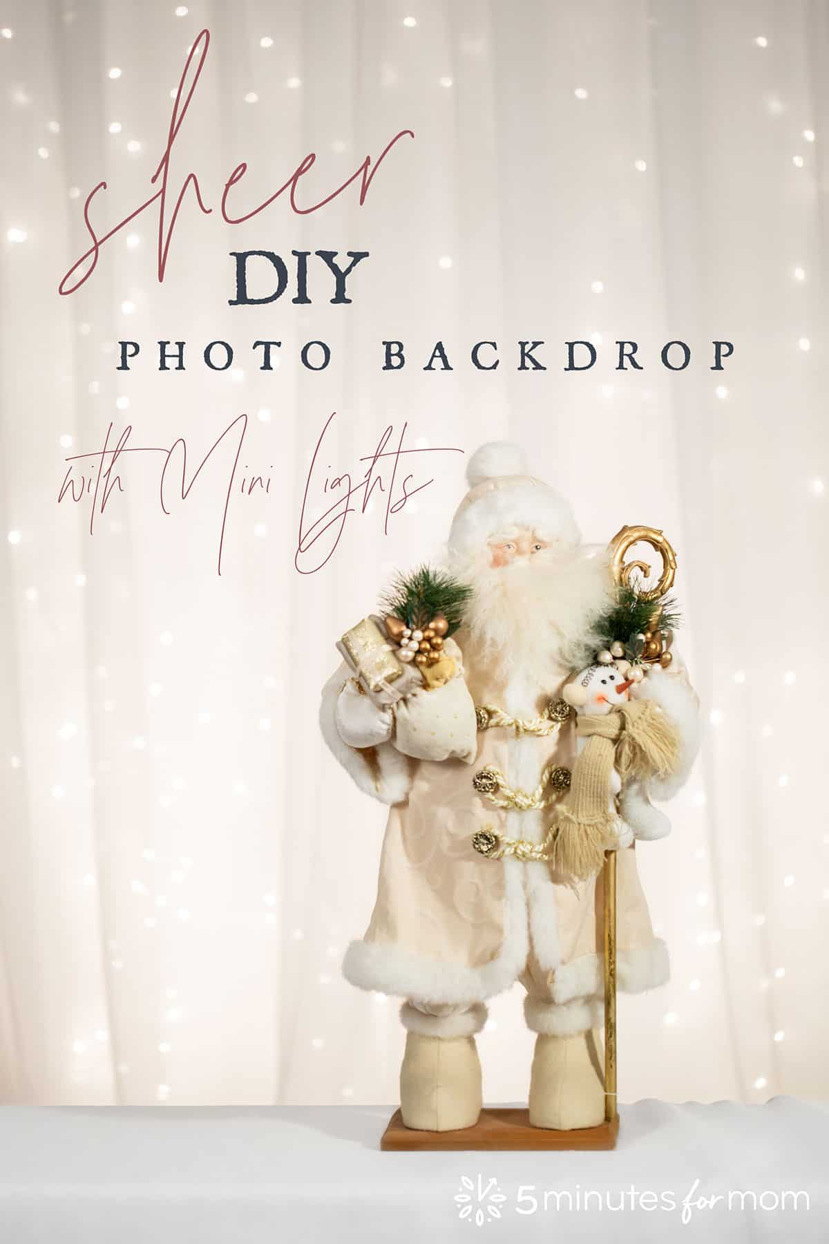 DIY photography backdrop with mini lights