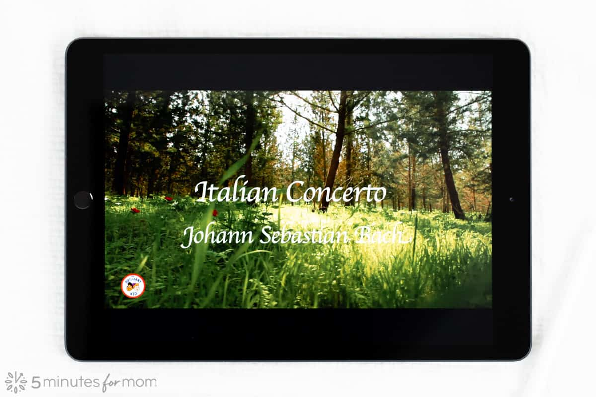 free classical music app for kids showing on iPad