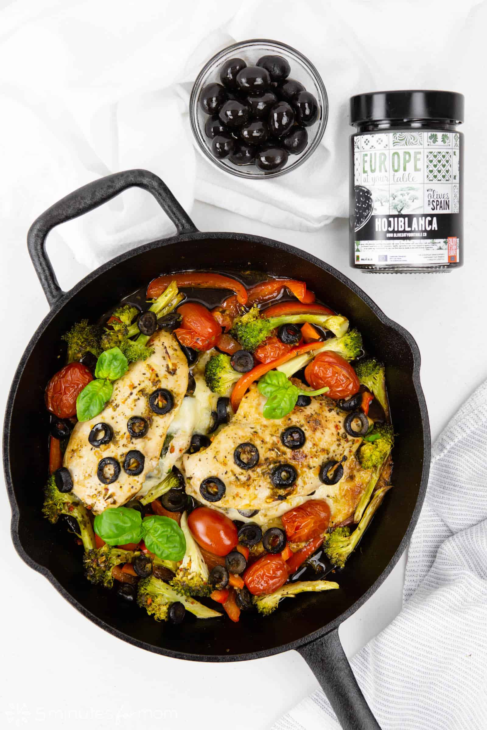 Stuffed Chicken Breasts with Spinach Cheese and Olives