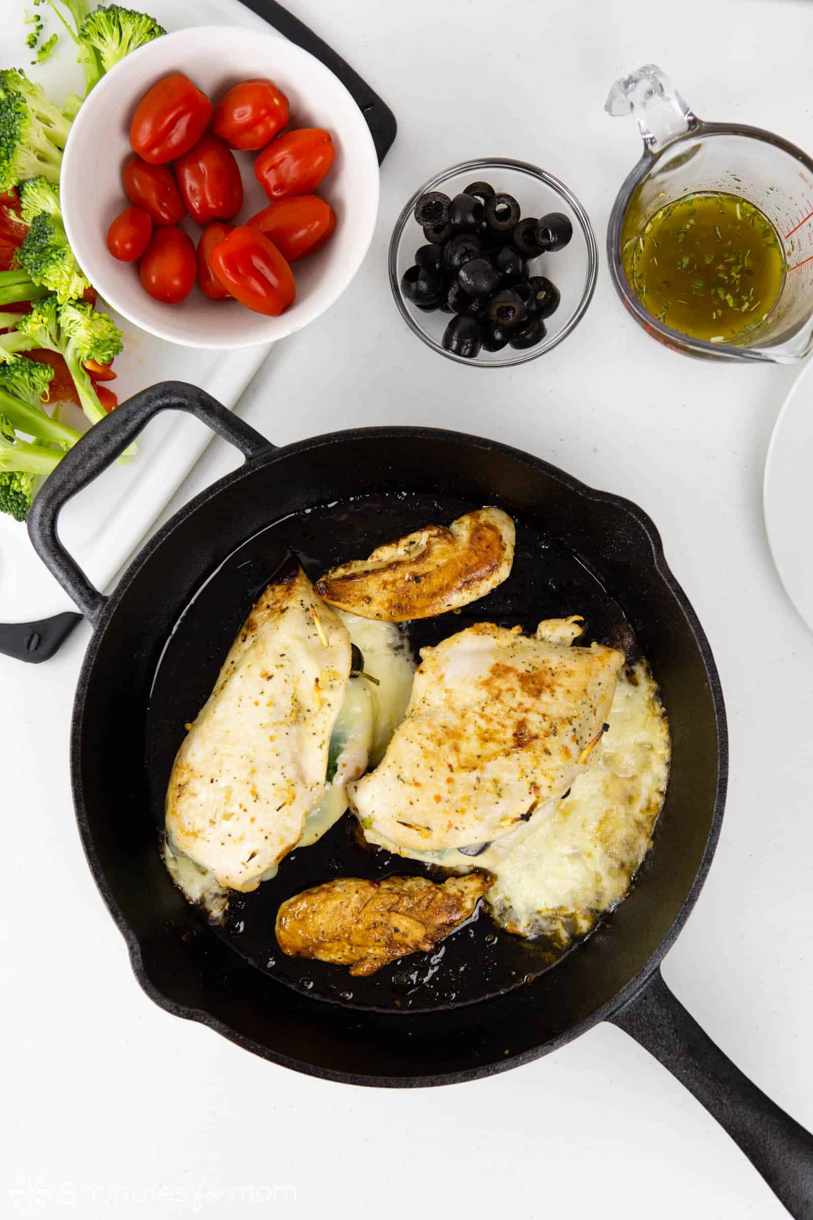 remove fillets after cooking for 10 minutes and add vegetables to pan