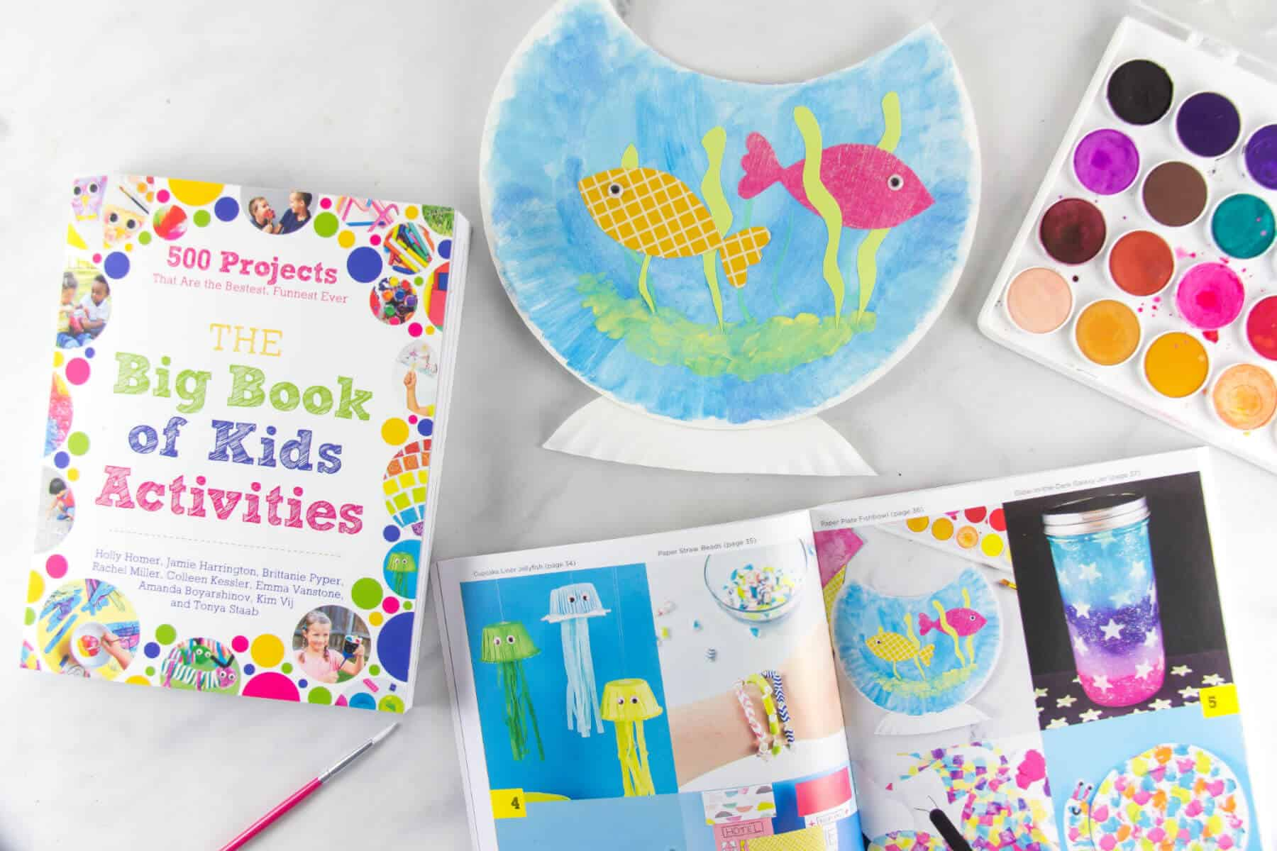 paper plate fish bowl tutorial from The Big Book of Kids Activities