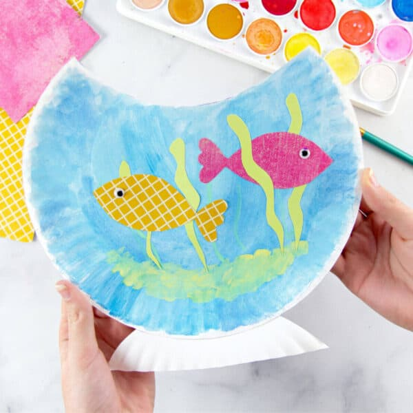 Paper Plate Fish Bowl Craft for Kids