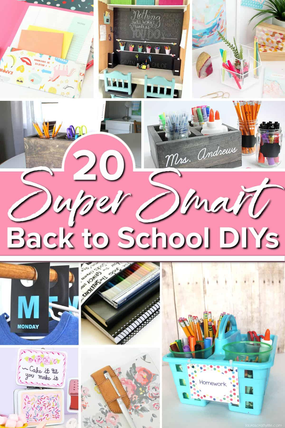 20 Super Smart Back to School DIYs